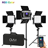 GVM RGB LED Video Lighting Kit, 800D Studio Video Lights with APP...