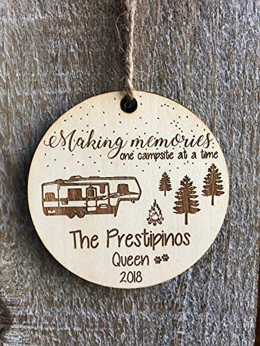 Gift for Campers Happy Camper Toy Hauler Christmas Ornament Travel Personalized Gift Christmas Couples Gift 5th Wheel