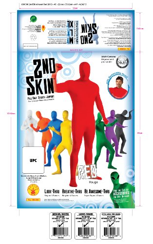 Rubie's mens Second Skin Zentai Supersuit