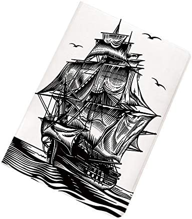 Pirate Ship iPad Air 2 iPad Air Case Nautical Line Art Style Illustration with Vintage Sailboat product image