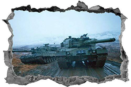 CSCH Army Tank 3D Sticker Decal War Children's Bedroom Wall Art Muralwall Sticker
