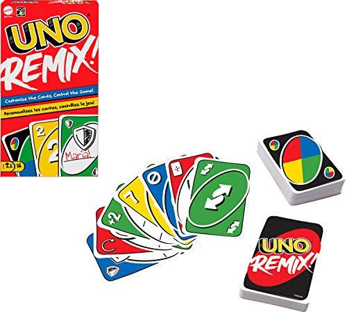 Mattel Games GXD71 - UNO® Remix Individuell gestaltbares Kartenspiel für Spieler ab 7 Jahren