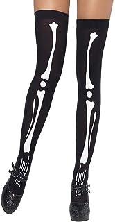 Stockings Skull Skeleton Socks Over Knee stockings Halloween Cosplay Funny Socks Festival Prop,1 Pair