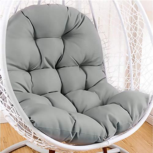 SKRCOOL Hängekorb Schaukel Chair Kissen Wicker Rattan Ei Kissen Auflage Dick Nest Schaukel Kissen Auflage Zu Hanging Chair Terrasse Schaukelstuhl Grau 95x125cm (37x49inch)