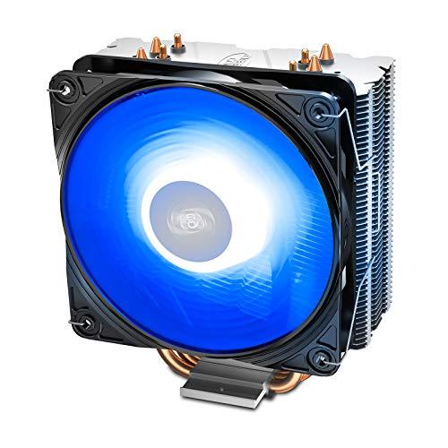 DEEP COOL GAMMAXX 400 V2, Disipador de CPU,con un CPU Ventilador de 120mm Actualizado con LED Azul,4 Tubos de Calor,TDP 180W