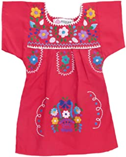 Mexican Clothing Co Baby Girls Mexican Dress Traditional Tehuacan Poplin CT