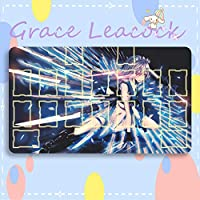 GraceLeacock カードゲームプレイマット 遊戯王 プレイマット 東方Project いざよい さくや TCG万能 収納ケース付き アニメ 萌え カード枠あり (60cm * 35cm * 0.2cm)