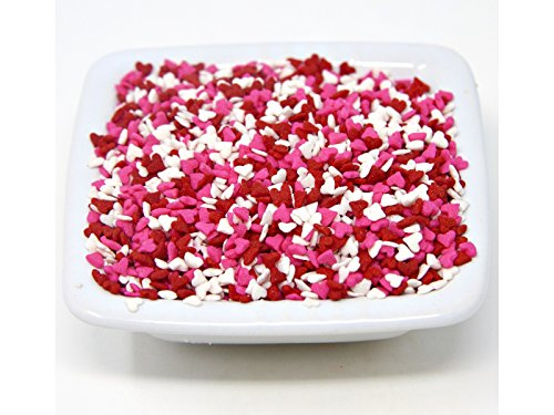 Oasis Supply Sprinkles, 8 oz., Mini Red White & Pink Heart Shapes