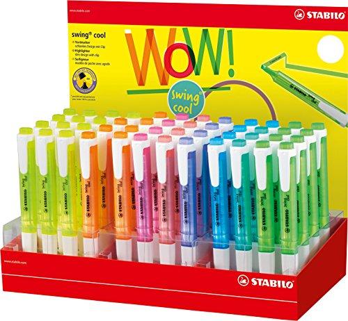 Stabilo Swing Cool Lot de 48 surligneurs en 8 couleurs assorties