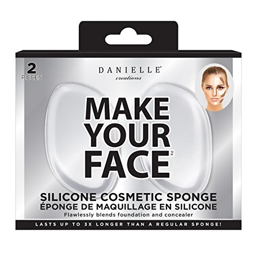 Danielle Creations Make Your Face 2PC- Silicone Cosmetic Sponge
