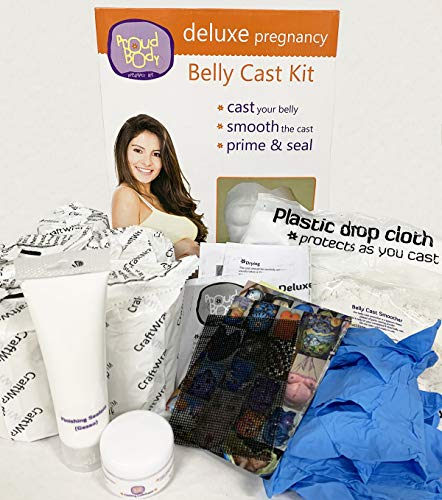 Pretty Belly,Belly Cast kit Pregnancy /& Baby Handprint et Footprint,Belly Molds kit Pregnancy,Baby Shower,Pregnancy Maternity Product,6 Rolls Plaster and 3 Bag Modeling Clay