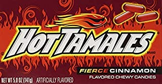 Hot Tamales Fierce Cinnamon Chewy Candies (5 Oz. - 2 Boxes) (Getting Two For The Price Of One!!!!!!!)