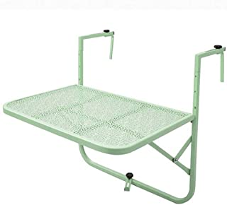GUXINHOME Colgando Plegable de Mesa, de Pared Mesa Plegable, Ajustable en Altura Tabla Pared, Colgante Balcón Tabla, Simple montado en la Pared pequeño Escritorio,Verde