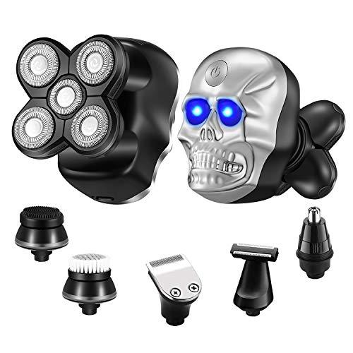 Roziapro ElectricRazorforMen Shavers for Men 6 in 1 Multifunctional Electric Razor Face Halloween Electric Shavers for Men USB Rechargeable Head Shaver
