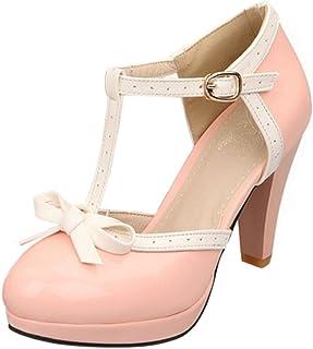 TAOFFEN Women Fashion T-Strap Sandals Platform Pumps Shoes?