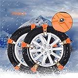 XYQCPJ Catena da Neve per Auto 10pezzi,Larghezza Pneumatico Universale Antiscivolo Trazione di Emergenza Catena Pneumatici Facile da Installare per Auto SUV Camion