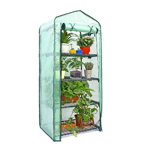 wisedwell Pflanzen Gewächshaus Indoor Mini Garten Gewächshaus Abdeckung Treibhaus Gitterfolie Ersatzfolie aus Hochwertiges PVC Langlebig Robust