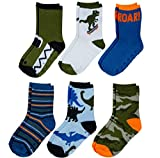 Peak 2 Peak Unisex Infant, Baby and Toddler 6-Pack assorted Ankle Socks - Designs and Colors (Dinosaur II, 2-4T)
