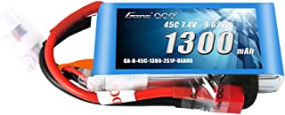 Gens ace 7.4V 1300mAh 2S 45C LiPo Battery Pack with Deans Plug for Glider 3D Plane Park Flyers Vortex RC Helicopter Airplane FPV Quadcopter Drone