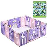 FFYN Parque Infantil Plegable, Centro de Actividades para niños, Patio de Juegos de Seguridad, corralito Plegable para...