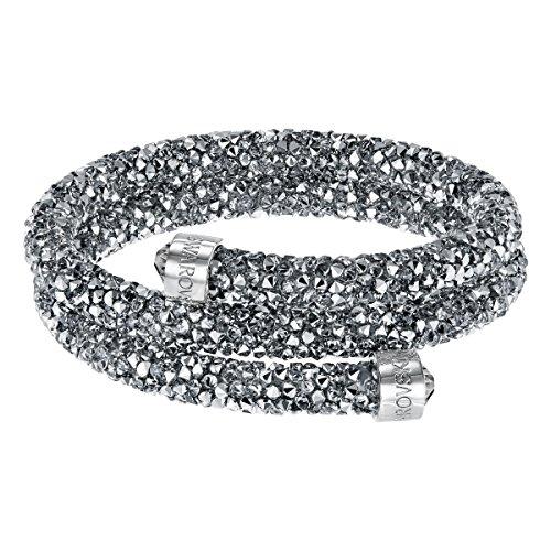 Swarovski Brazalete Crystaldust Double, gris