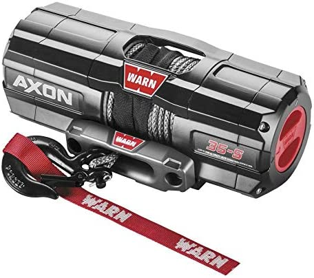 New Warn sold out Axon 3500 lb Winch Manufacturer OFFicial shop Model Synthetic Rope With Specific