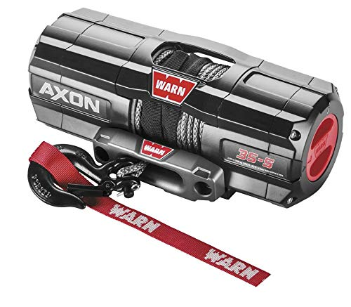New New Warn Axon 3500 lb Winch With Synthetic Rope & Model Specific Mounting Hardware - 2014-2015 K...