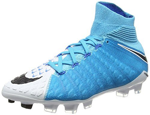 Nike Jr Hypervenom Phantom 3 DF Fg, Scarpe da Calcio Unisex-Adulto, Multicolore (Bleuphoto/Blanc/bleuchlorine/Noir), 36.5 EU
