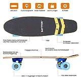 Baytter 22 Zoll Skateboard Komplett Board Mini-Cruiser aus 7-lagigem Ahornholz 57 x 15cm für Kinder, Jugendliche und Erwachsene - 2