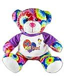 Flutter Hut Get Well Soon Teddy Bear Tie Dye Plush Message T-Shirt 9 Inches