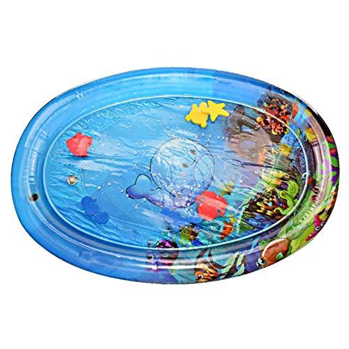 WXCL Creative Tapis d'eau Oreiller d'eau Gonflable Infantile Game Pad Enfant en Bas Âge Drôle Pat Pad Jouet Bébé Gonflable Pat Pad Bébé, J 70x50 cm
