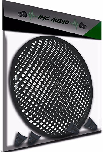 """10 Inch 10"""" Universal Metal Car Audio Speaker SubWoofer Waffle Grill Protector Cover With Clips and Screws"""