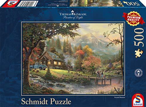 Schmidt - Thomas Kinkade Puzzle, Tematica: Idillio al Fiume, 500 Pezzi