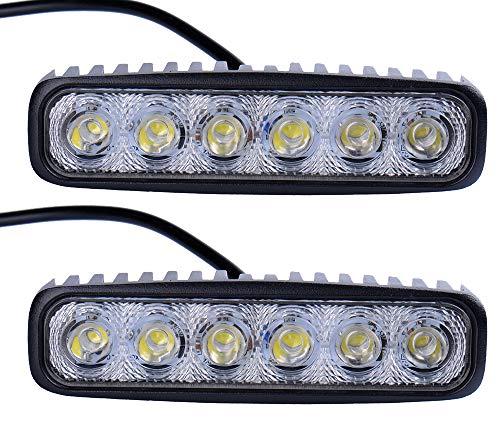 Leetop 2X 18W LED Offroad Arbeitslicht Flutlicht Spotlight Reflektor Scheinwerfer Arbeitsscheinwerfer 1600LM Schwarz Aluminium Druckguss IP67