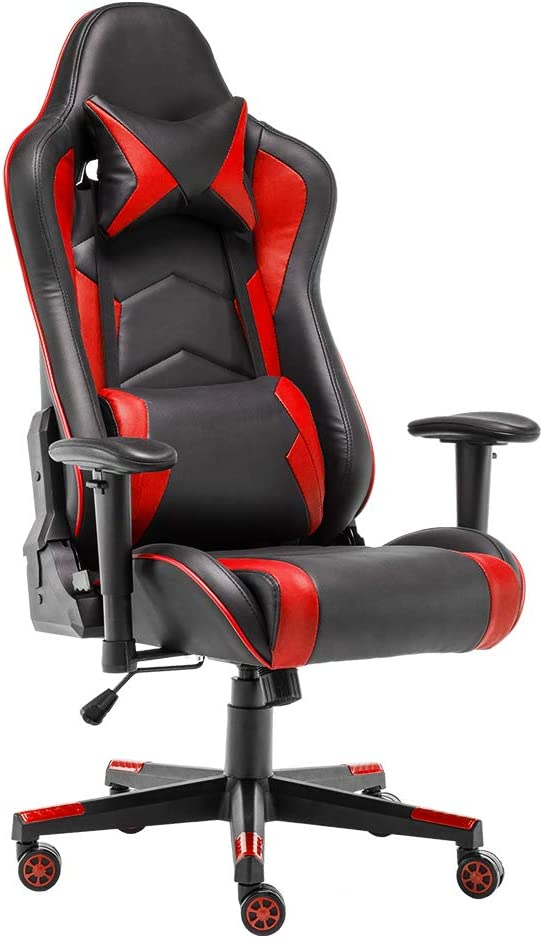 STmeng Racing Chair Gaming Chair Swivel Computer Desk Chair Office Chair Faux Leather Seat