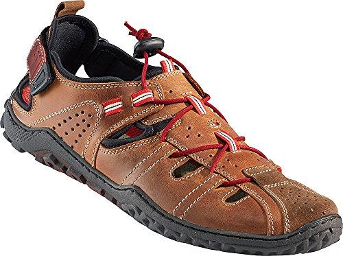 Nordcap Trekkingsandalen/Herren Ledersandalen, Wander- und Outdoor-Sandalen mit regulierbaren Schnürsenkel, Klettverschluss und Profilsohle für extra Trittsicherheit (Größen: 40-46)