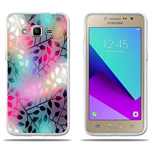 Funda Samsung Galaxy J2 Prime-FUBAODA-3D Realzar, Hermoso Dibujo de Vidriera con Dise?os Vegetales,Amortigua los Golpes, Carcasa Protectora Anti-Golpes para Samsung Galaxy J2 Prime (5.0')