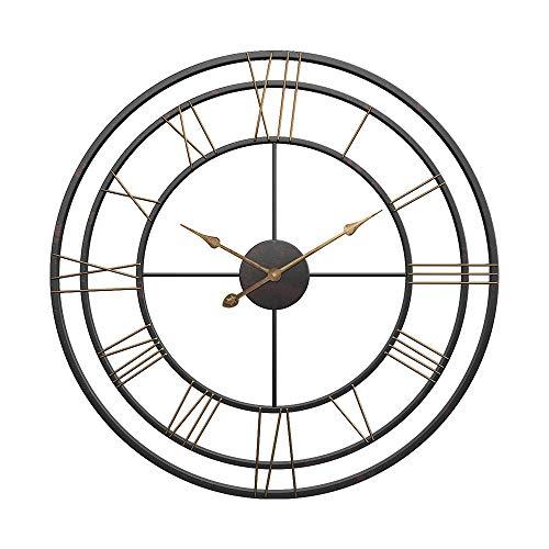 Ayanx Wandklokken Stille beweging Quartz Wandklok Woonkamer Slaapkamer Home Winkel Cafe Decoratief horloge 50 * 50cm / 19 * 19In