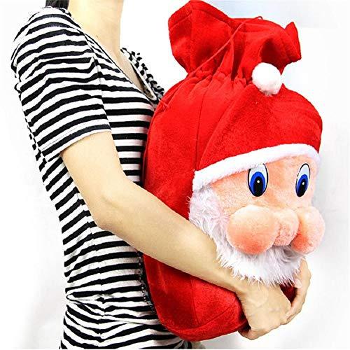 Weihnachtsgeschenk Taschen, Santa Sack Drawstring Aufbewahrungstasche Geschenk Rucksack, Weihnachtsdekoration Lieferungen für Weihnachtsfeier begünstigt Festival Dekoration