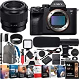 Sony a7R IV Full-Frame Mirrorless Camera Body FE 50mm F1.8 Full-Frame Prime Lens ILCE-7RM4 + SEL50F18F Bundle with Photo Video LED, Monopod,64GB, Software, Deco Gear Backpack & Accessories