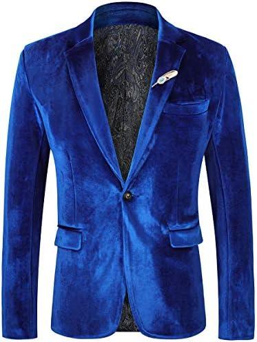 Royal blue velvet blazer mens _image0