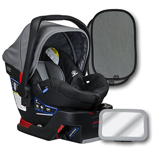 Cheapest Prices! Britax B-Safe 35 Infant Car Seat, Dove, Back Seat Mirror, and 2 EZ-Cling Window Sun...