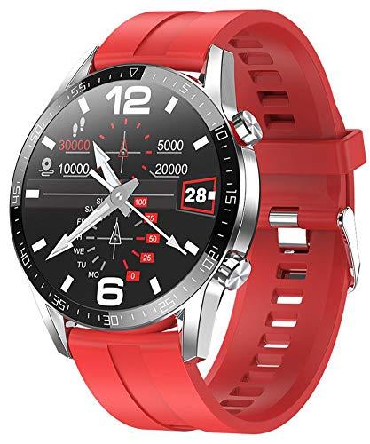 XWZ Smart Watch Fitness Tracker SmartWatch Pulsera Actividad Fitness Tracker SmartWatch Bandas Monitor de Ritmo cardíaco Bluetooth Call Sports SmartWatch,D