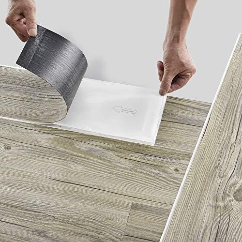 neu.holz Pisos de Vinilo-PVC Decorativo Diseño de Pisos laminados 7 planchas Decorativas = 0,975 m² Suelo Autoadhesivo Roble Italiano (Italian Oak)