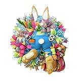 zonglian2021年 イースター フラワーリース 花輪 ウサギ 飾り 壁 飾り付け 造花 フラワーリーススタンド 手作りキット フラワーリースの発想 玄関用 玄関ドア 屋外(多種類)