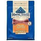 Blue Buffalo Dental Bones Small Natural Dental Chew Dog Treats, (15-25 lbs) 27-oz Bag Value Pack