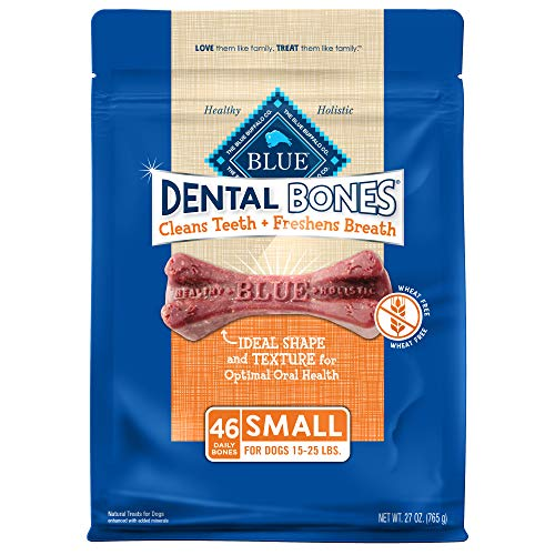 Blue Buffalo Dental Bones Natural Adult Dental Chew Dog Treats Small 27oz bag Value Pack