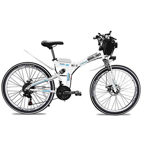 PHASFBJ Bicicleta Eléctrica de Montaña, Bicicleta Eléctrica Plegable 26