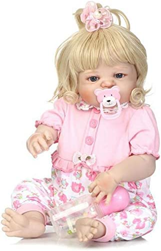 KT Lifelike Realistic Baby Doll, Tall Dreams Gift Set Ensemble, Weißhted Baby for Ages Ages 3 + 23 inch