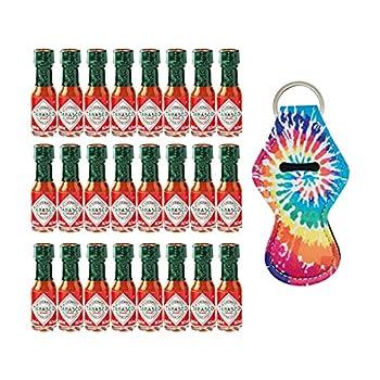 Tabasco s Original Hot Sauce Mini Bottles with Hot Sauce Key Chain   24 Mini Hot Sauce Bottles of Original Tabasco Including 1 Key Chain for Mini Tabasco Hot Sauce -  24 x 3.7 ml   1 x Key Chain